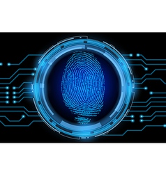 Finger print with electric cycle vector