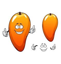 Ripe juicy tropical mango fruit character vector