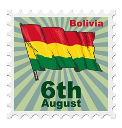 National day of bolivia vector