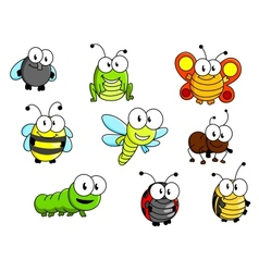 Cartoon insects set vector