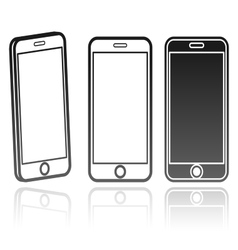 Technology icon of a modern phone vector