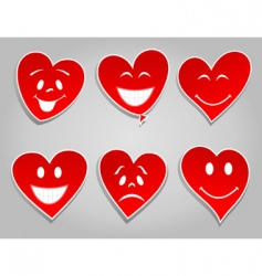 Smile hearts vector