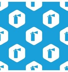 Fire extinguisher hexagon pattern vector
