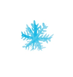 Handwritten watercolor snowflake vector