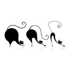 Cat style design - from small to big vector
