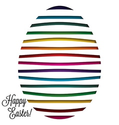 Paper cut out easter egg card in format vector