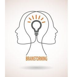 Concept of business idea and brainstorming vector