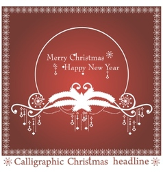 Christmas headlines vector