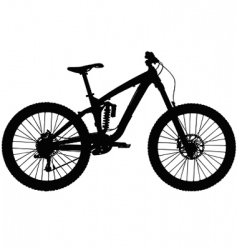 Downhill mountain bike vector