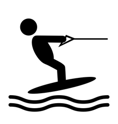 Summer water sport pictograms flat people icons vector