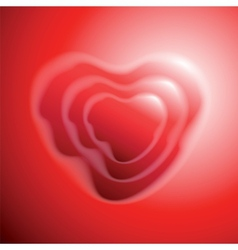 Heart shape on red background vector