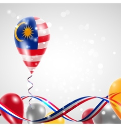 Flag of malaysia on balloon vector