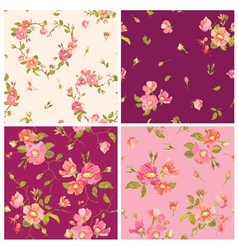 Set of roses background vector
