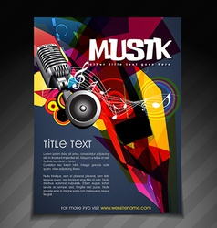 Music party flyer design vector