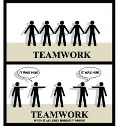 Teamwork one vector