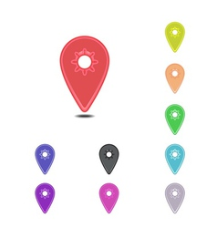 Colorful map pins vector