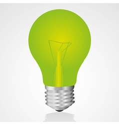 Green light bulb isolated on white background vector