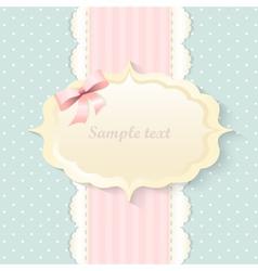 Classic romantic invitation design  pink vector