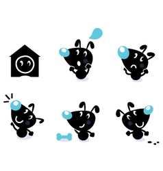 Cute dog collection vector