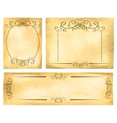 Vintage paper border collection vector