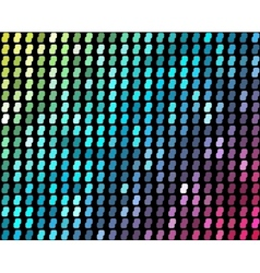 Abstract mosaic neon background vector