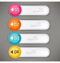 Set of colorful bookmarks stickers labels tags vector