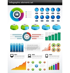 Design elements for infographic vector