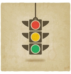 Traffic light symbol vector