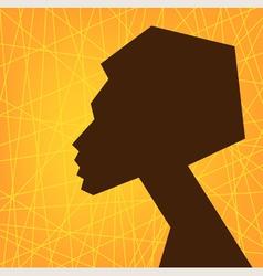 African woman face vector