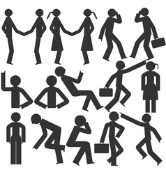 Bodily movement cartoon vector