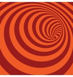 Orange spiral striped abstract tunnel background vector