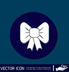 Bow icon vector