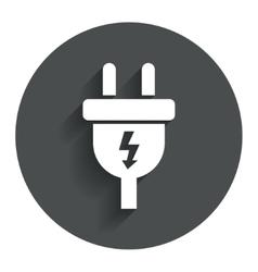 Electric plug sign icon power energy symbol vector