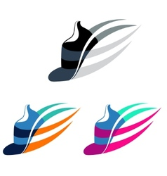 Sport shoes sign with color variations vector