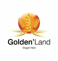 Golden land logo vector