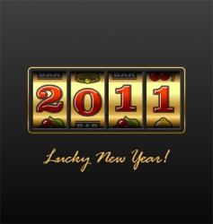 Lucky new year vector