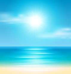 Summer holidays beach background vector
