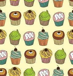 Muffin seamless vector
