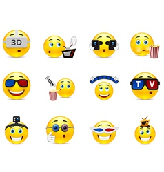 Cine smilies vector