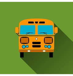 Retro bus icon long shadows vector
