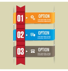 Ribbon set web design elements vector