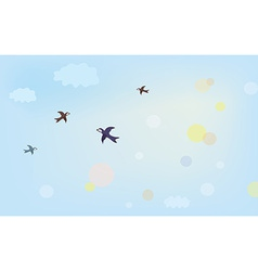 Banner with air in the sky vector