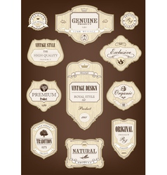 Vintage tree label vector