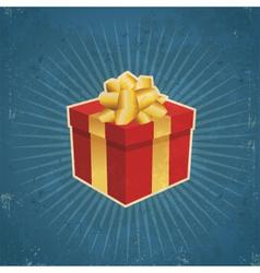 Retro gift box vector