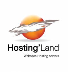 Hosting land logo vector