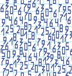 Seamless pattern with numbers on notebook page vector