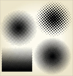 Halftone dots set vector
