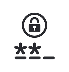 Password icon vector