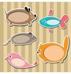 Animal frames vector