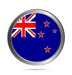 New zealand flag button vector